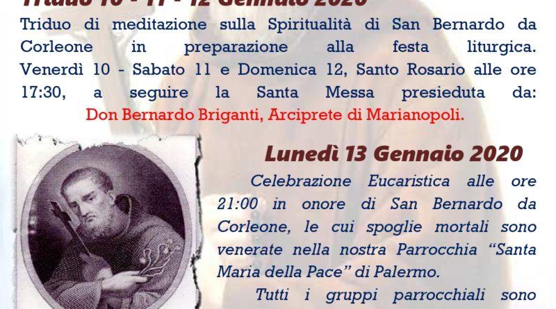 Festa di San Bernando 2019 - Parrocchia Santa Maria della Pace dei Frati Minori Cappuccini Palermo