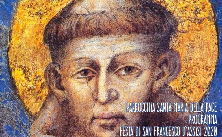 Locandina Festa di San Francesco 2020